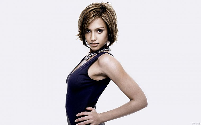 Jessica Alba, actress, white background - desktop wallpaper