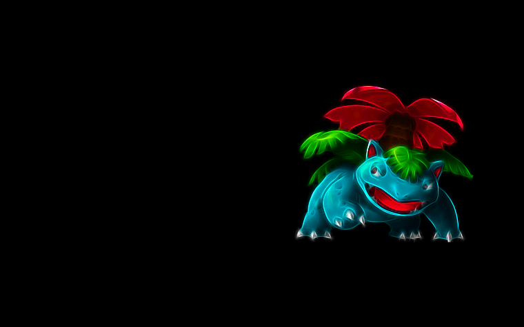 Pokemon, Venusaur, simple background, black background - desktop wallpaper