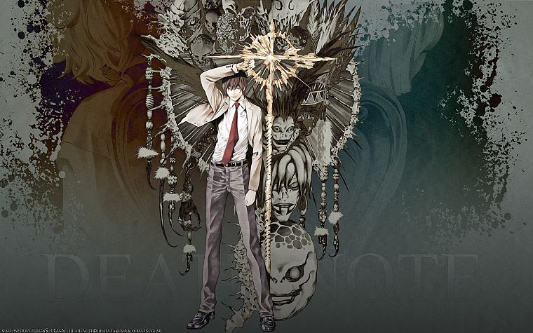 Death Note, Ryuk, Yagami Light - desktop wallpaper