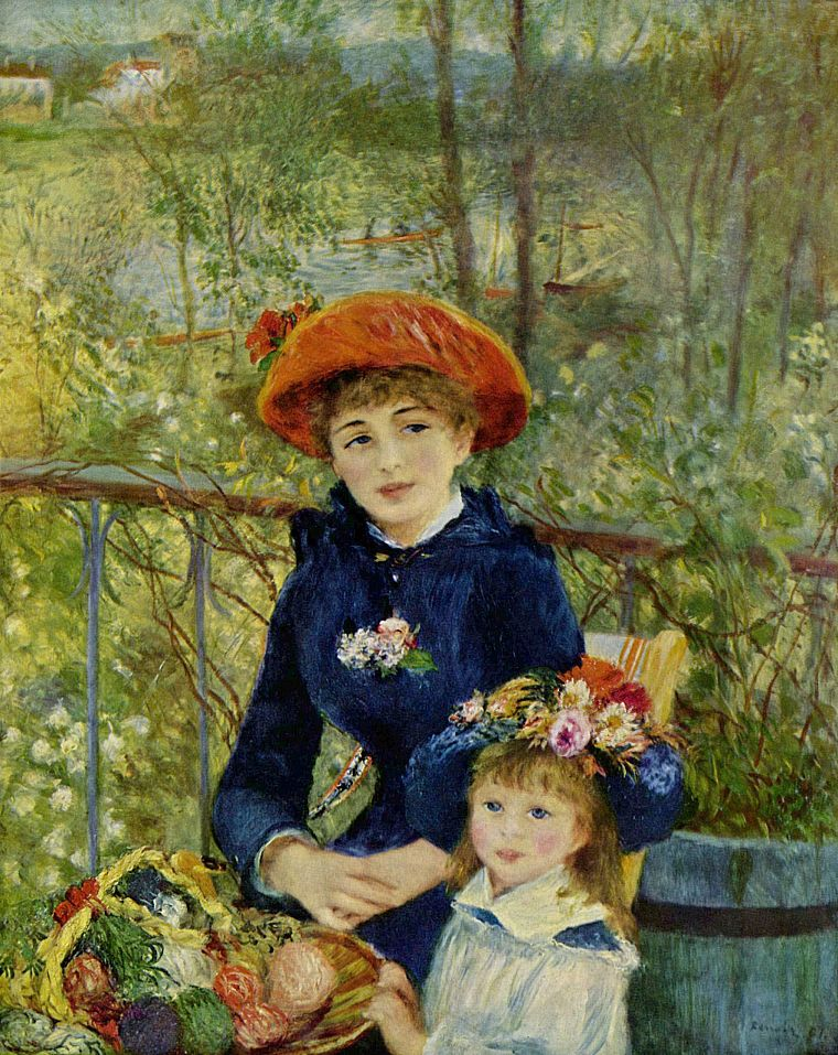 paintings, artwork, Renoir - desktop wallpaper
