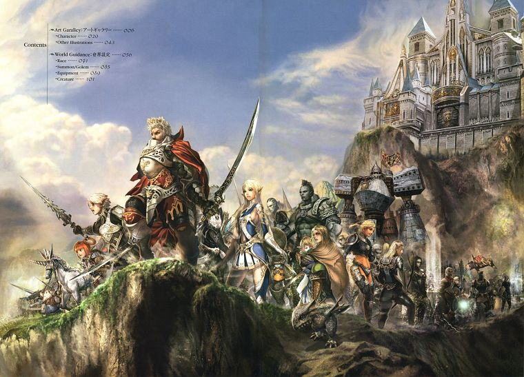 fantasy, castles, army, cliffs, warriors, detailed, soft shading - desktop wallpaper