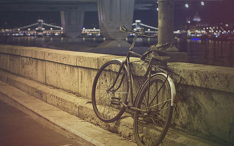 bicycles, bridges, urban, chains, Duna, chain bridge - desktop wallpaper