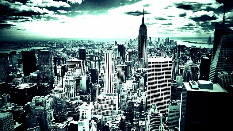 cityscapes, skylines, architecture, buildings, New York City, skyscrapers - desktop wallpaper