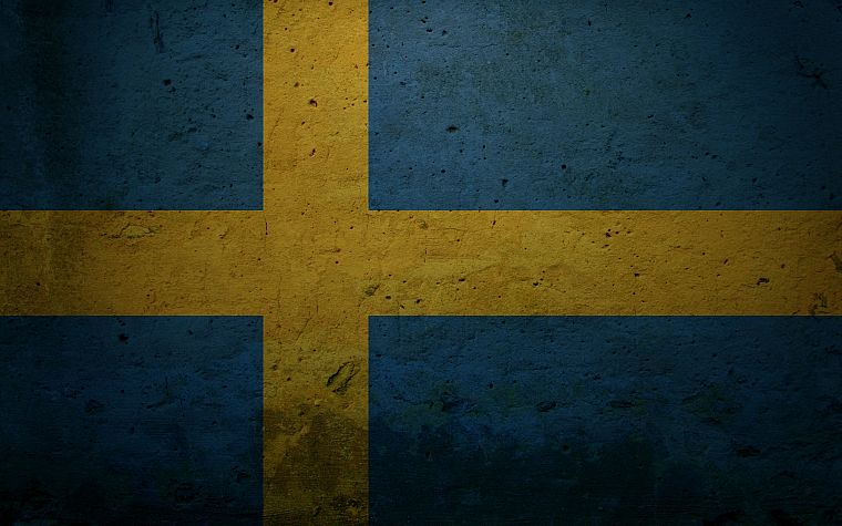 grunge, Sweden, flags - desktop wallpaper
