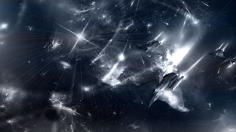 outer space, photo manipulation - desktop wallpaper