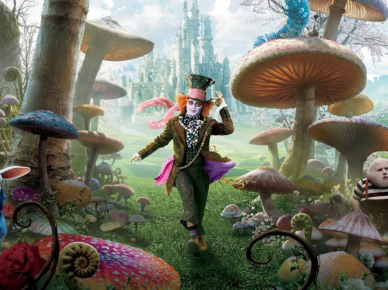 fantasy, Alice in Wonderland, Mad Hatter, Johnny Depp - desktop wallpaper