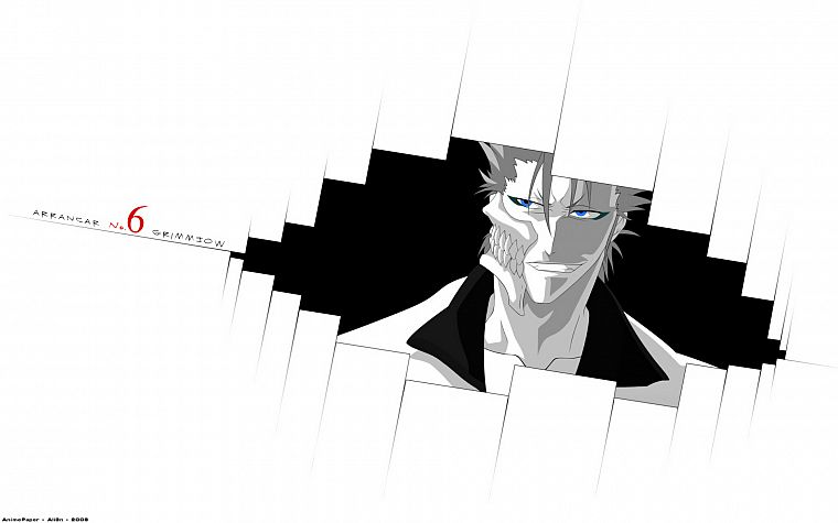 Bleach, Espada, Grimmjow Jaegerjaquez, white background - desktop wallpaper
