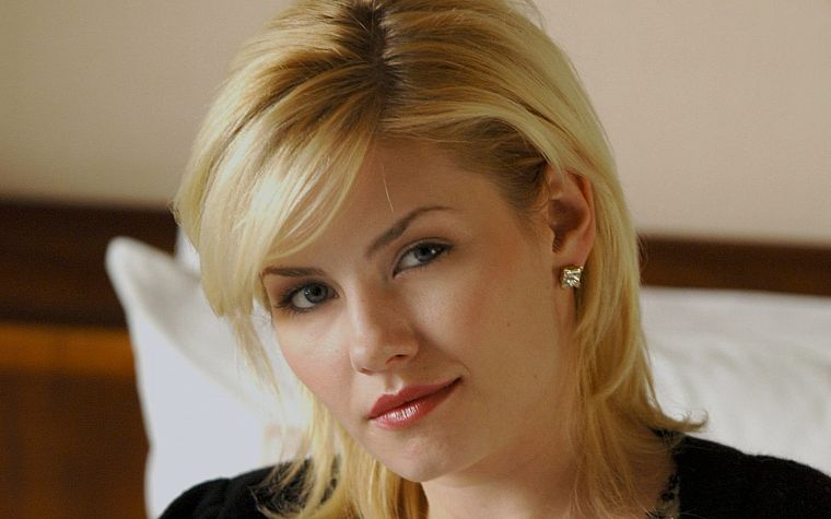 blondes, women, close-up, Elisha Cuthbert, actress, faces - desktop wallpaper