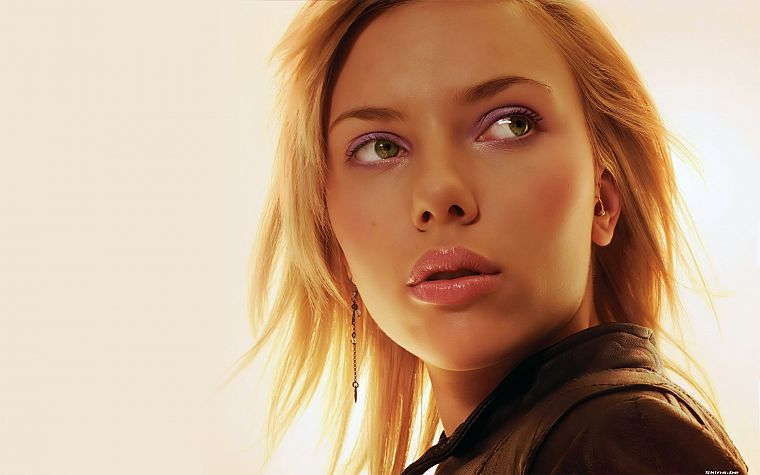 women, Scarlett Johansson, actress, faces - desktop wallpaper