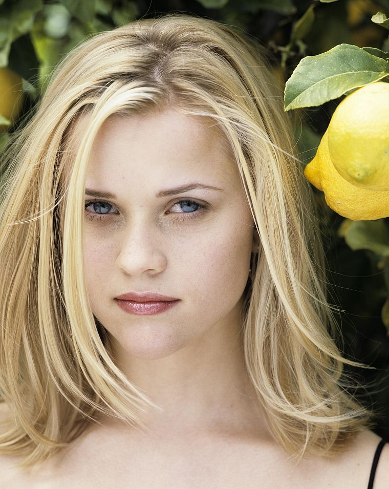 blondes, women, blue eyes, Reese Witherspoon, faces - desktop wallpaper