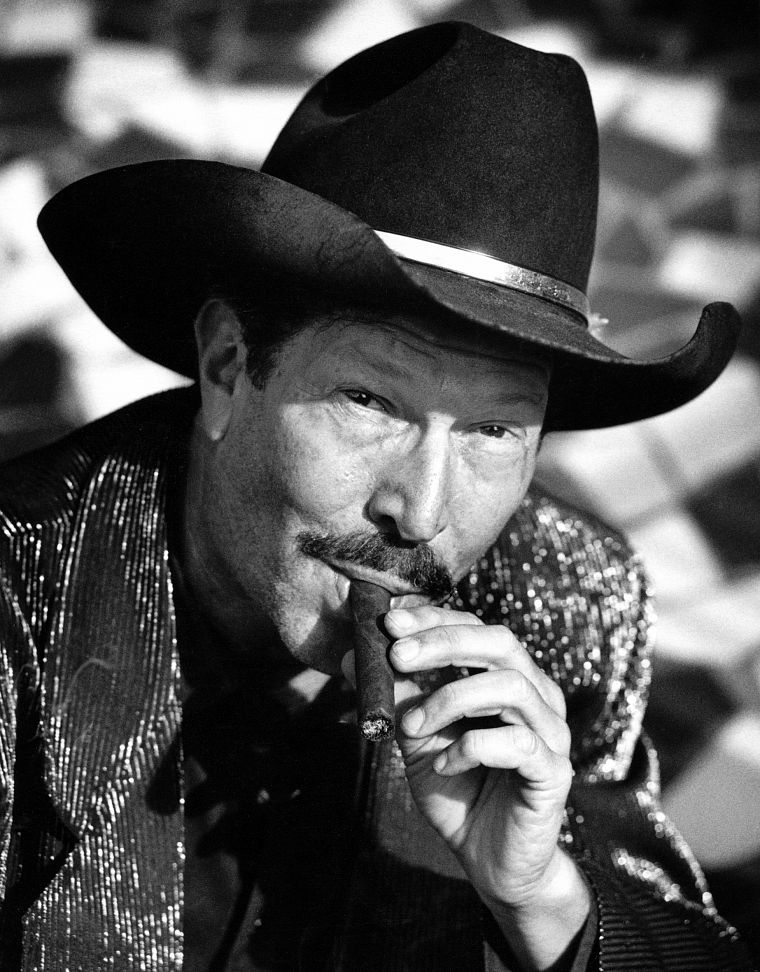 grayscale, monochrome, cigars, Kinky Friedman - desktop wallpaper