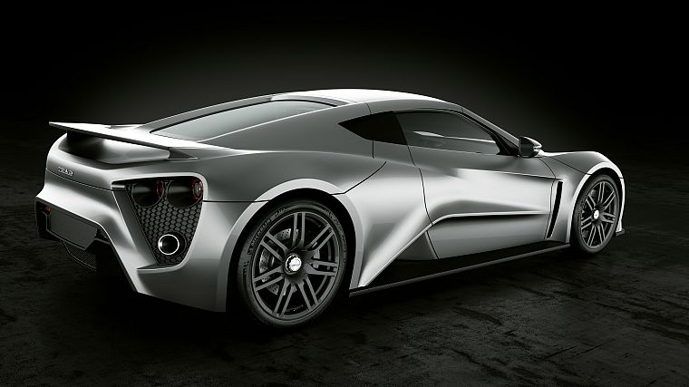 cars, vehicles, Zenvo ST1, Zenvo, black background, rear angle view - desktop wallpaper