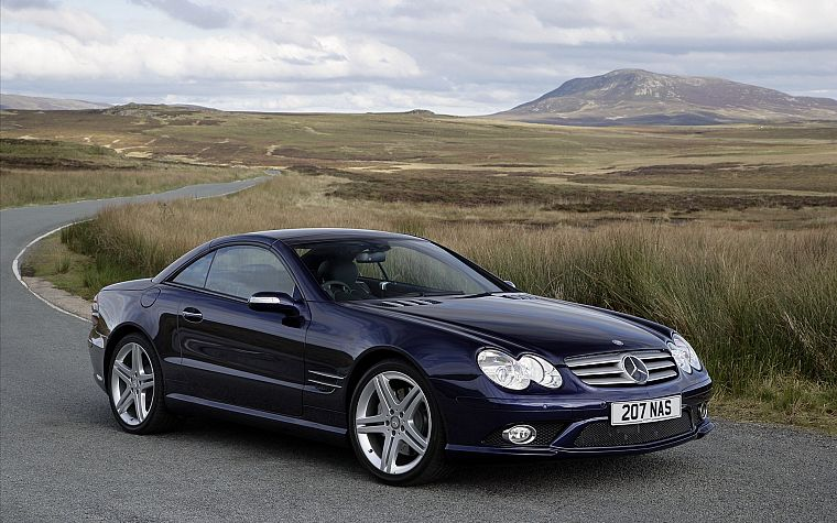 cars, Mercedes-Benz, German cars, Mercedes SL55 AMG - desktop wallpaper