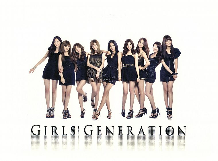 legs, women, Girls Generation SNSD, celebrity, high heels, Korean, black dress, bracelets - desktop wallpaper