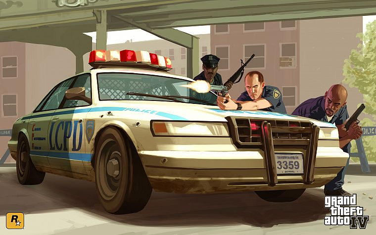 video games, Grand Theft Auto, police cars, Grand Theft Auto IV, GTA IV - desktop wallpaper