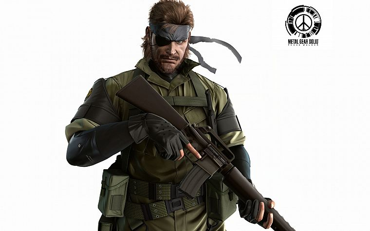 video games, Metal Gear Solid, Peace Walker, Naked Snake, white background - desktop wallpaper