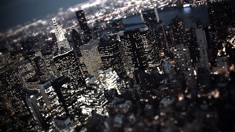 cityscapes, buildings, New York City, tilt-shift - desktop wallpaper