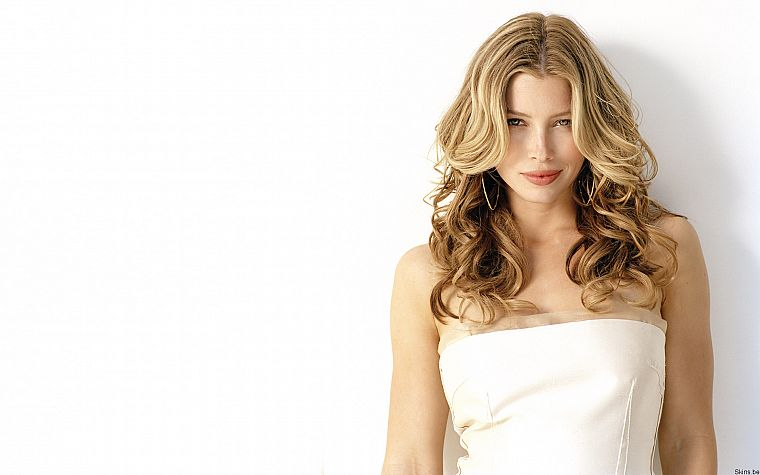 women, actress, Jessica Biel, celebrity, simple background, white background - desktop wallpaper