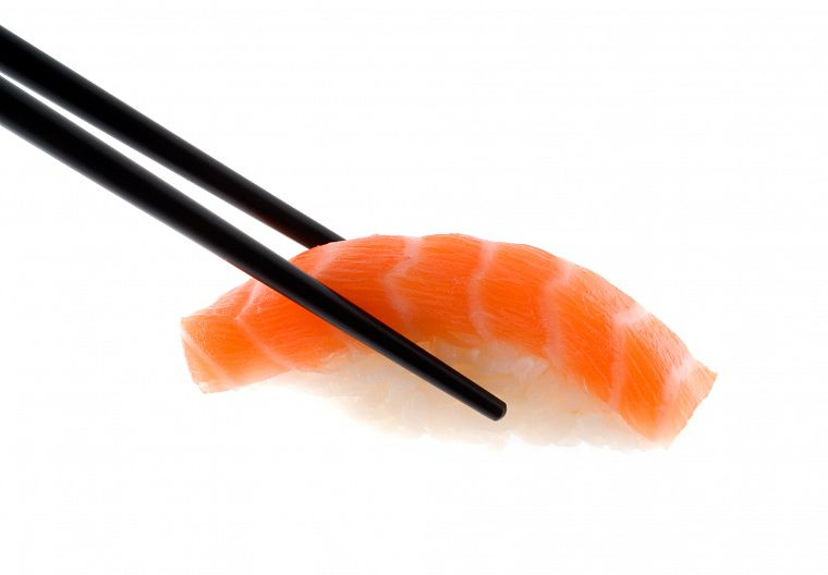 sushi, simple background - desktop wallpaper