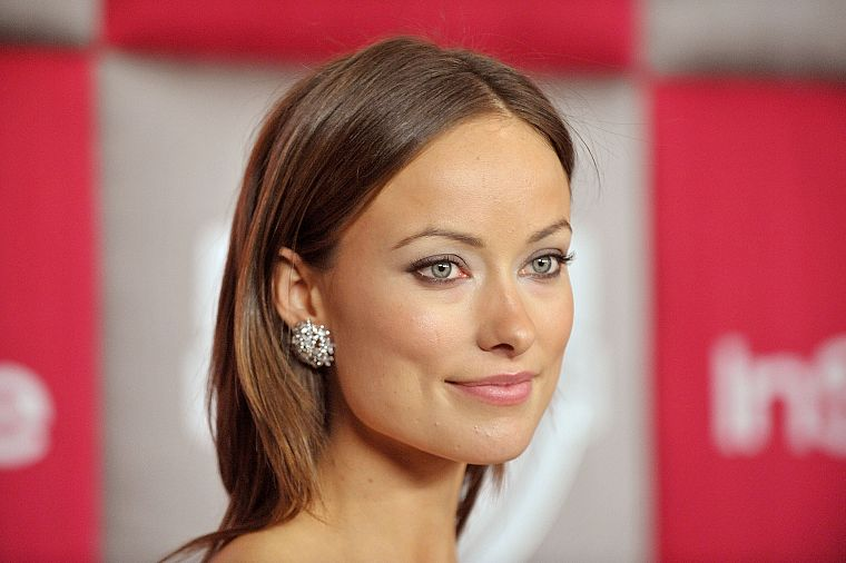 brunettes, women, models, Olivia Wilde, green eyes, earrings - desktop wallpaper