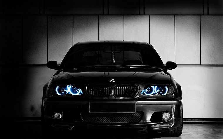 BMW, cars, vehicles, BMW E46, black cars - desktop wallpaper