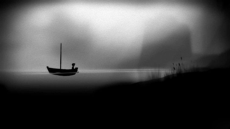 black and white, video games, landscapes, boats, grainy, sea shorelines, sea - desktop wallpaper