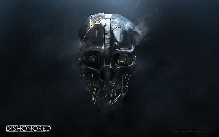 video games, robots, masks, digital art, Dishonored - desktop wallpaper