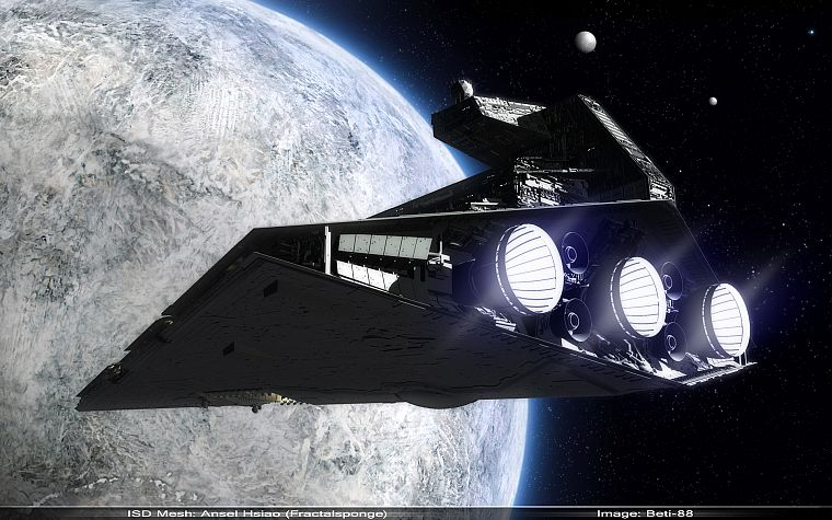 Star Wars, outer space, spaceships, vehicles, Star Destroyer - desktop wallpaper