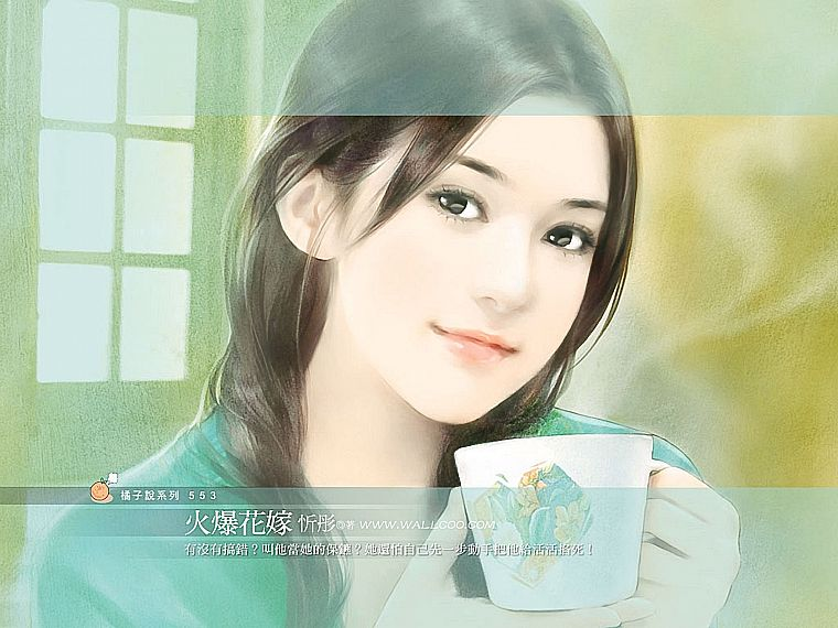 women, paintings, Chinese - desktop wallpaper