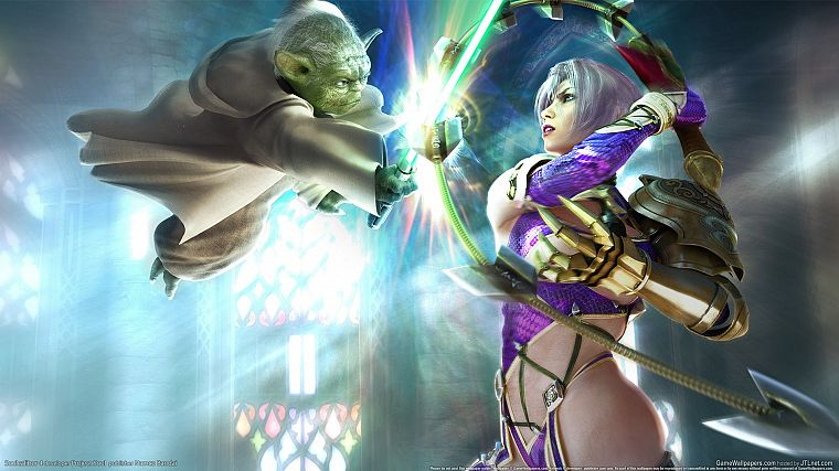 video games, Soul Calibur, Yoda, Ivy Valentine - desktop wallpaper