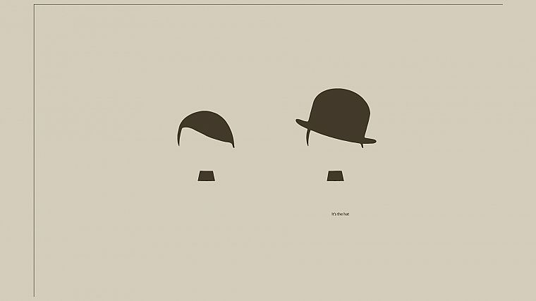 Charlie Chaplin, Adolf Hitler, hats - desktop wallpaper
