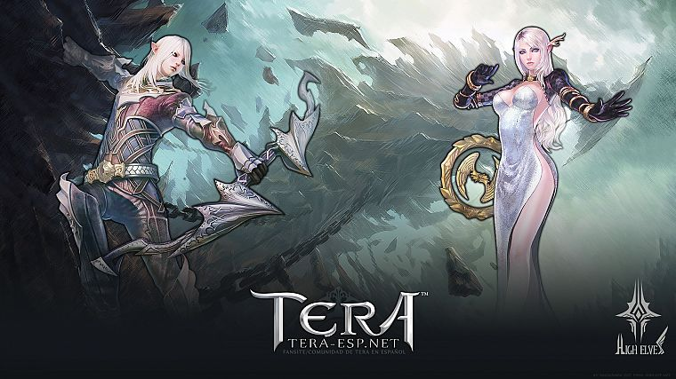 women, archers, Tera, sorcerer, MMORPG, High Elf - desktop wallpaper