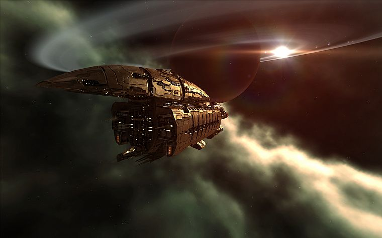 EVE Online, spaceships, vehicles, Abaddon - desktop wallpaper