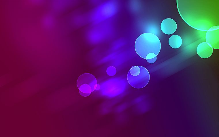 abstract, circles, bokeh - desktop wallpaper