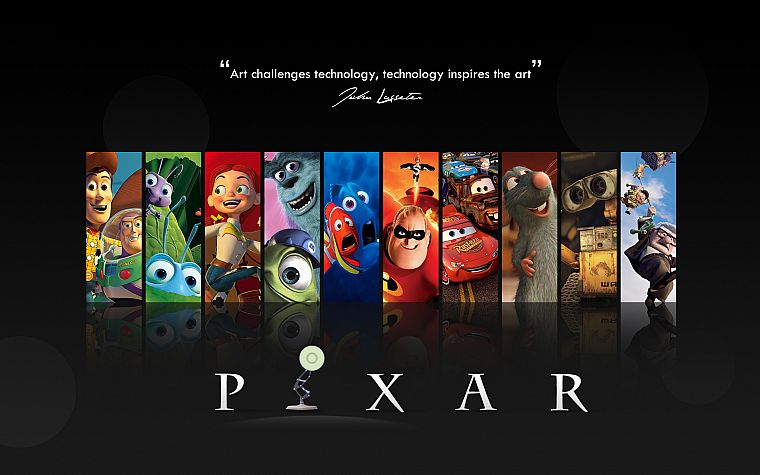 Pixar, movies, Wall-E, cars, quotes, Up (movie), Finding Nemo, Ratatouille, Toy Story, The Incredibles, A Bug's Life - desktop wallpaper