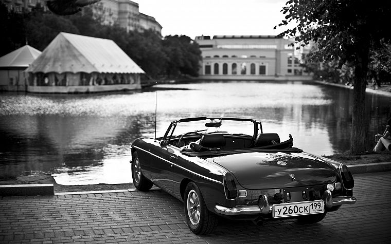 black, white, old, cars, monochrome, vehicles, lakes, greyscale, Russian - desktop wallpaper