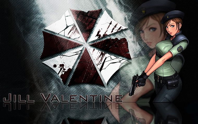 video games, movies, Resident Evil, Jill Valentine, Umbrella Corp., logos - desktop wallpaper