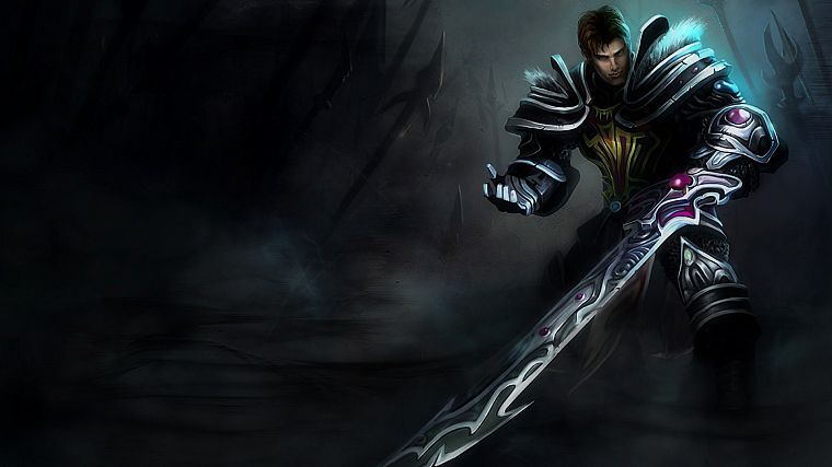 video games, League of Legends, Garen, Riot Games - desktop wallpaper