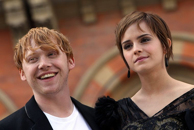 Emma Watson, Harry Potter, Harry Potter and the Deathly Hallows, Rupert Grint - desktop wallpaper