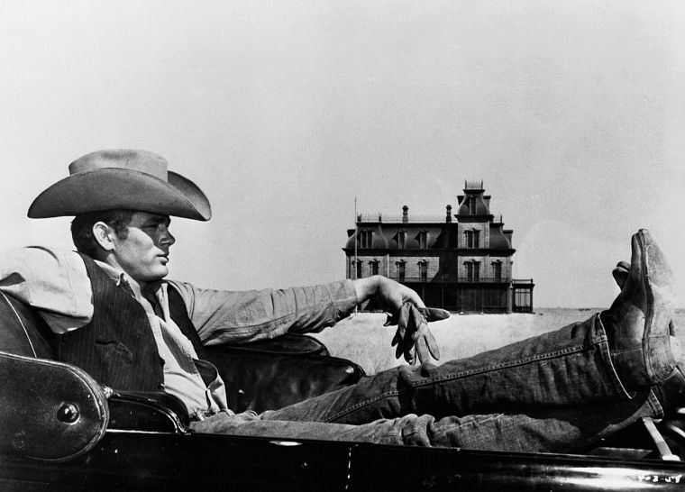old, houses, men, grayscale, monochrome, actors, James Dean, hats - desktop wallpaper