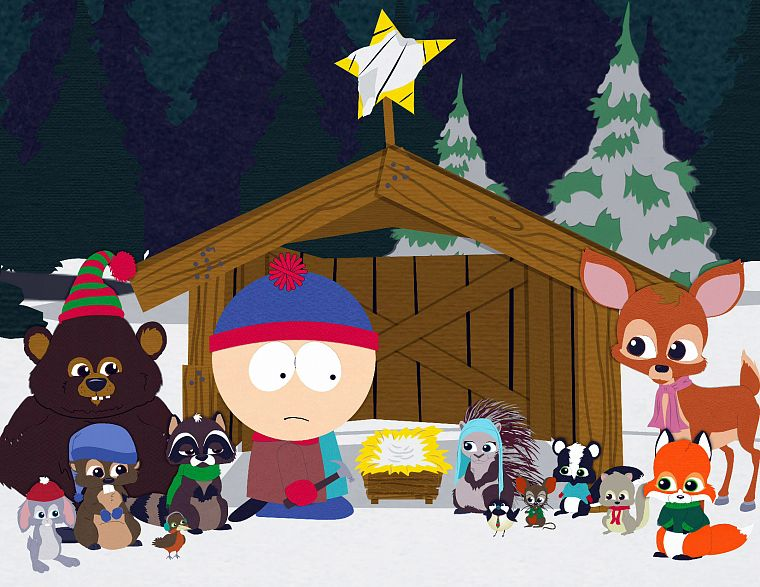 TV, South Park, animals, Christmas, critters, Stan Marsh - desktop wallpaper