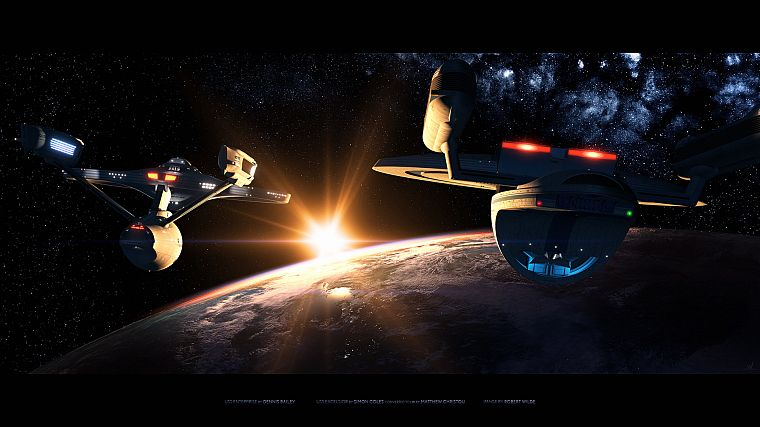 Star Trek, spaceships, vehicles - desktop wallpaper