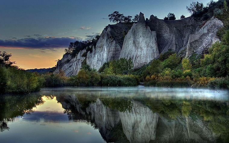 mountains, landscapes, nature, HDR photography, rivers, reflections - desktop wallpaper