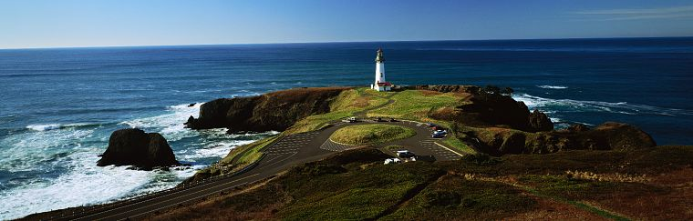ocean, landscapes, lighthouses, multiscreen - desktop wallpaper