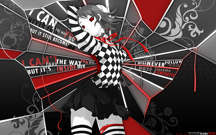 video games, Touhou, Izayoi Sakuya, alternate, striped legwear - desktop wallpaper