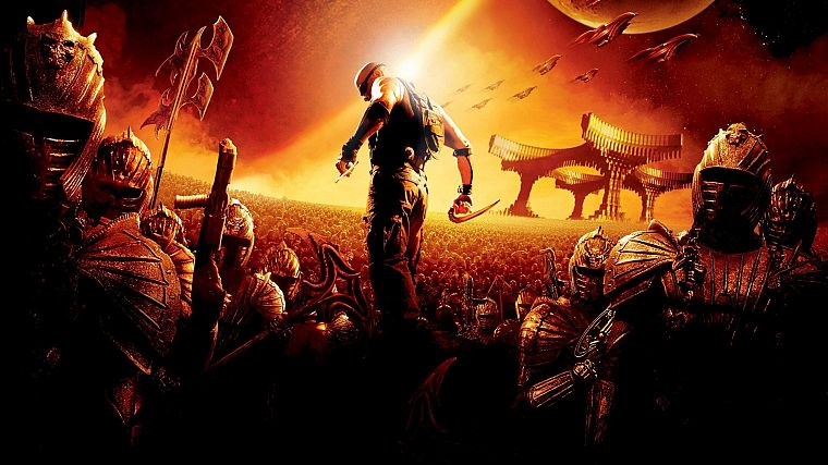 soldiers, outer space, movies, riddick, The Chronicles of Riddick, Vin Diesel - desktop wallpaper