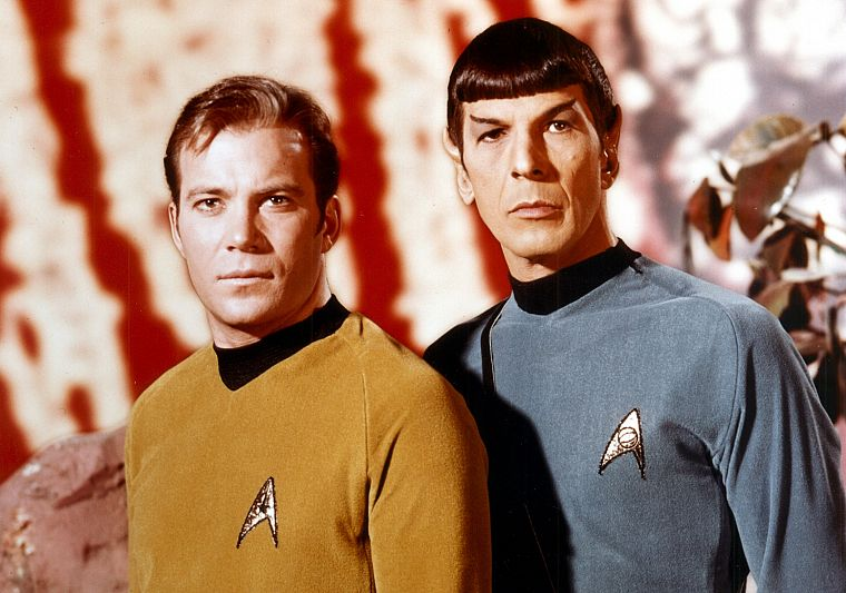 TV, Star Trek, Spock, James T. Kirk - desktop wallpaper