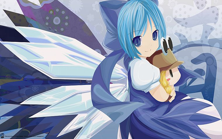 video games, Touhou, Cirno, Moriya Suwako - desktop wallpaper