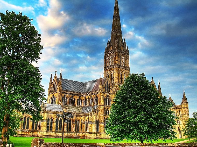 architecture, cathedrals, HDR photography, Salisbury Cathedral - desktop wallpaper