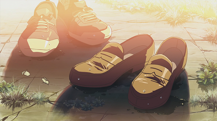 shoes, Makoto Shinkai, anime, The Place Promised in Our Early Days - desktop wallpaper